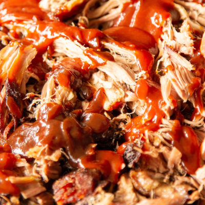 Image of pulled pork with barbecue sauce