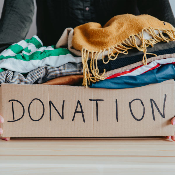 Clothes that are not part of the capsule wardrobe can be donated