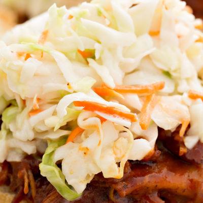 Image of coleslaw on pulled pork