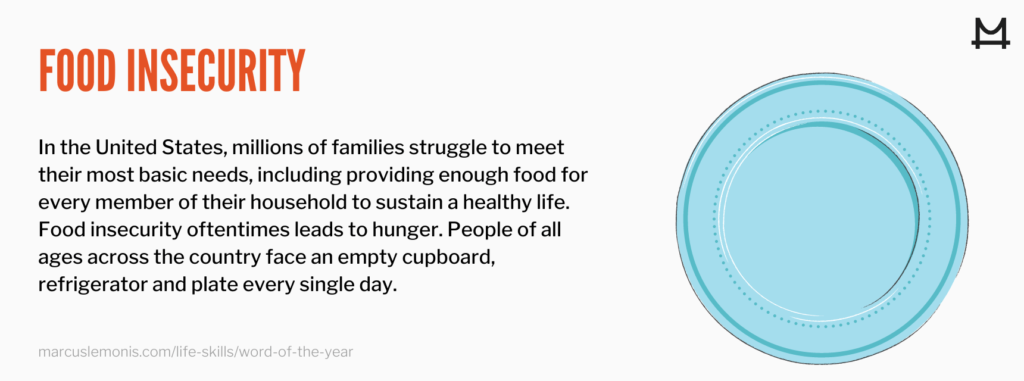 Definition of food insecurity and what it means when giving to those in need
