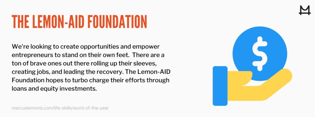 Definition of the lemon-aid foundation