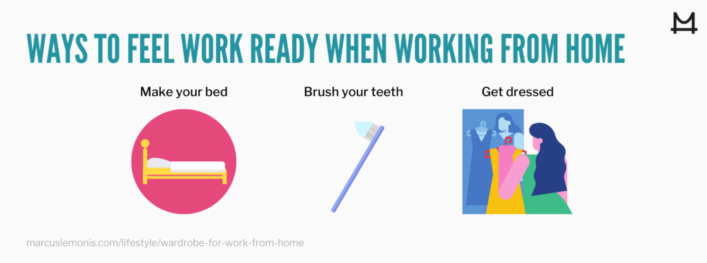 List of benefits of getting dressed for work from home
