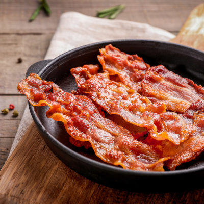 Image of bacon in a pan