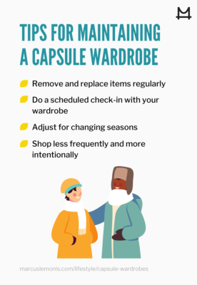 List of tips for maintaining a capsule wardrobe