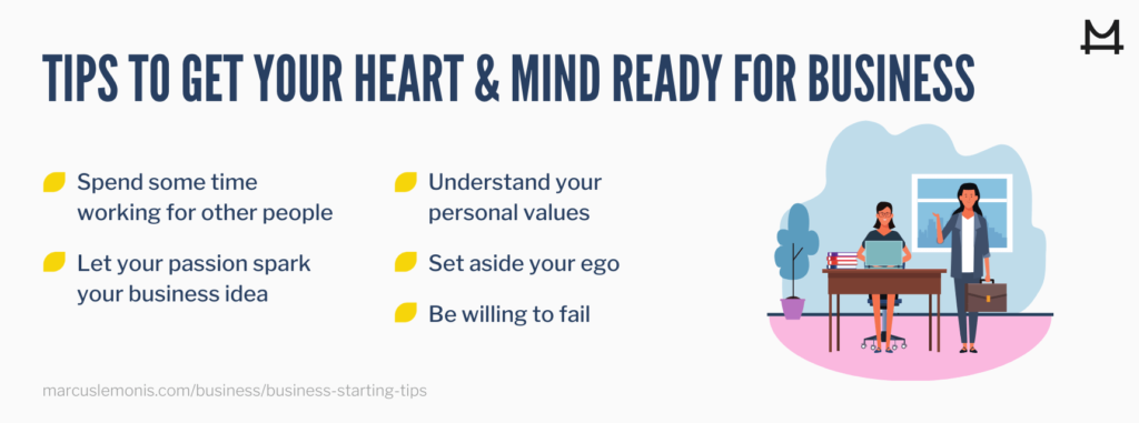 List of lists on how to get your heart and mind ready for starting a small business